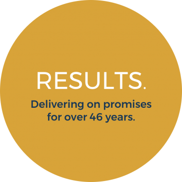 Results. Delivering on promises for over 46 years.