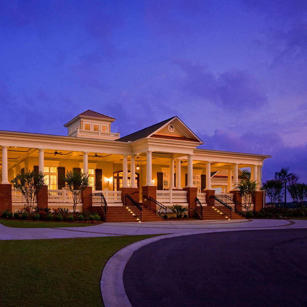 Waterway Palms Clubhouse at Night